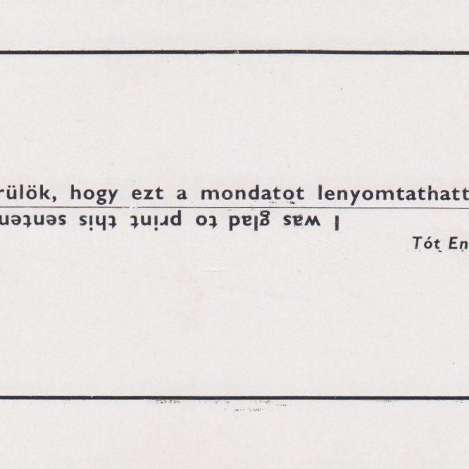 Tót Endre: Printed Matter 1971-1981